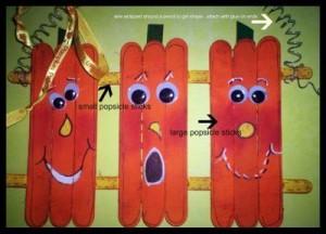 popsicle pumpkin craft