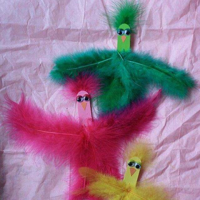 popsicle stick bird