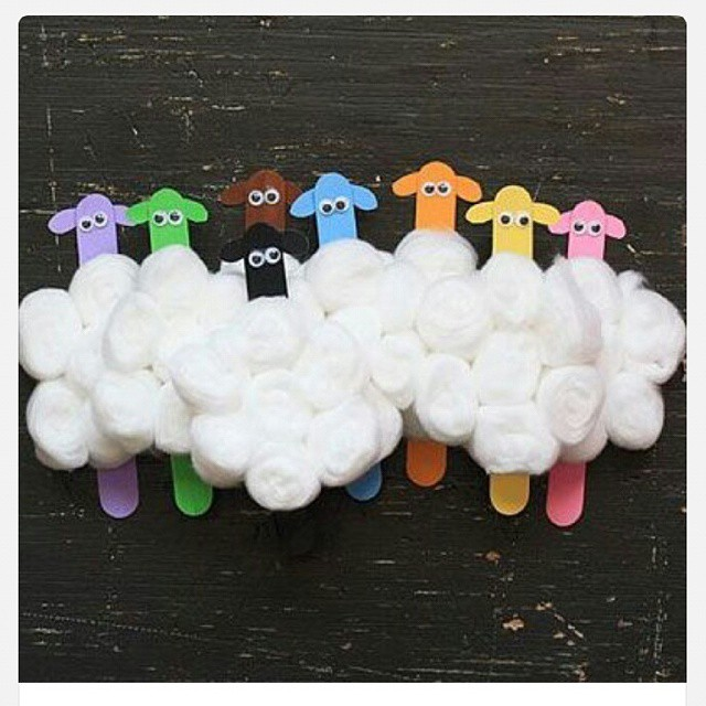 popsicle stick sheep craft