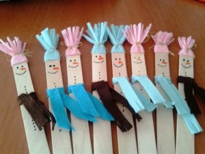 popsicle stick snowman crafts