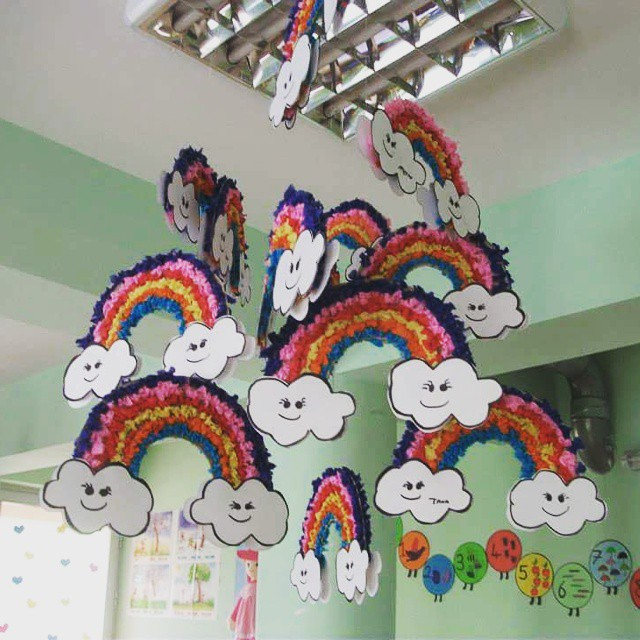 rainbow mobile craft