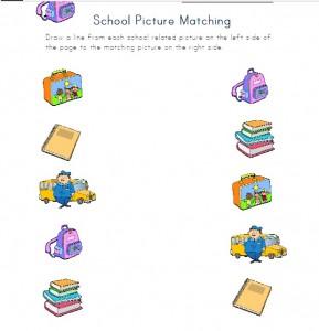 school matching worsheet