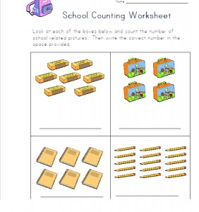 school number count worksheet for kids 1