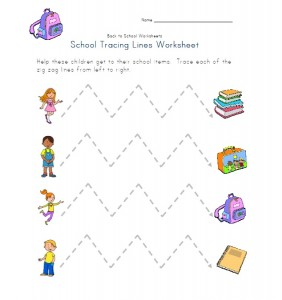 school trace lines worksheet