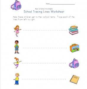 school tracing line worksheet