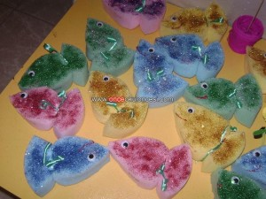 sponge fish craft idea