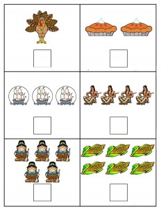 thanksgiving day number count worksheet