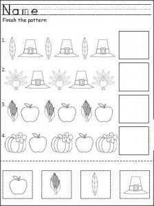thanksgiving day pattern worksheet (2)