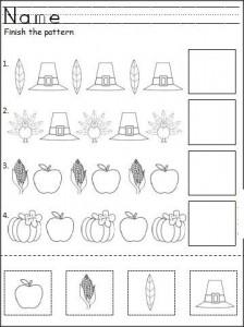 thanksgiving day pattern worksheet (2)