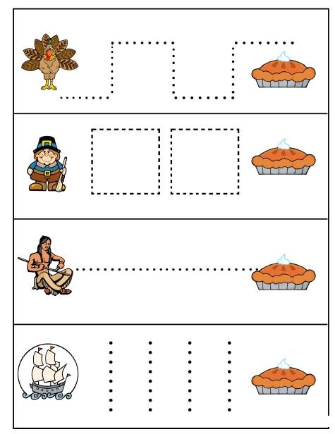Thanksgiving Worksheets For Kindergarten : Crafts actvities and worksheets for preschool toddler