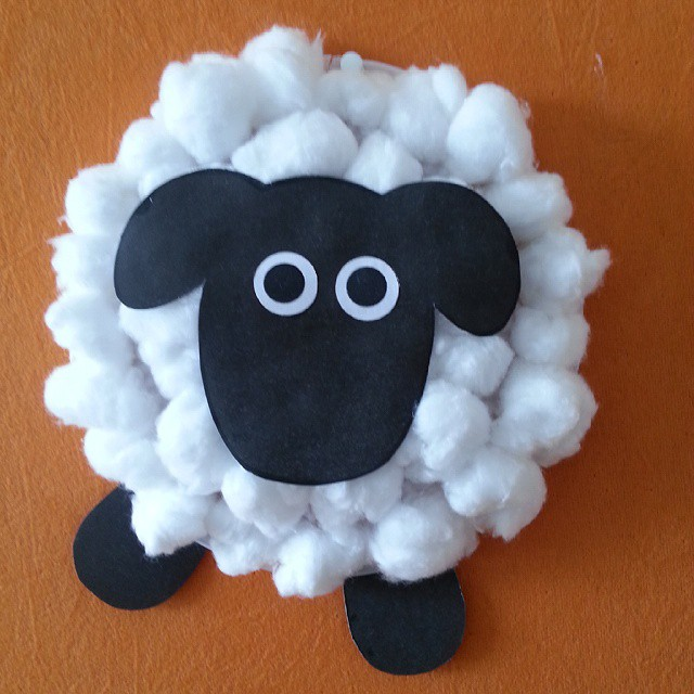 Cotton Ball Sheep Craft