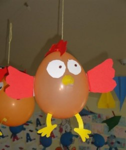 balloon hen craft