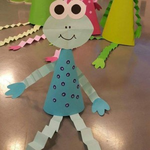 cone shaped frog craft