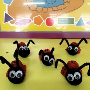 egg carton ladybug craft