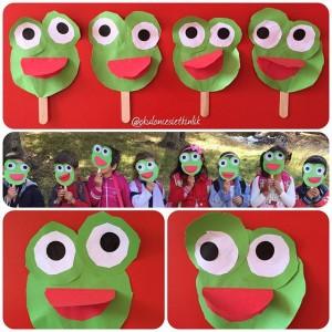 frog puppet craft