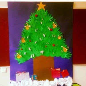 handprint christmas tree craft