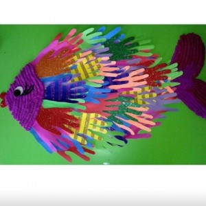 handprint fish bulletin board