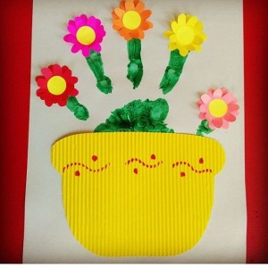 handprint flower craft