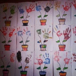 handprint flower craft idea