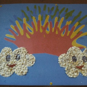 handprint rainbow bulletin board idea