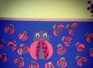 ladybug bulletin board idea for kids