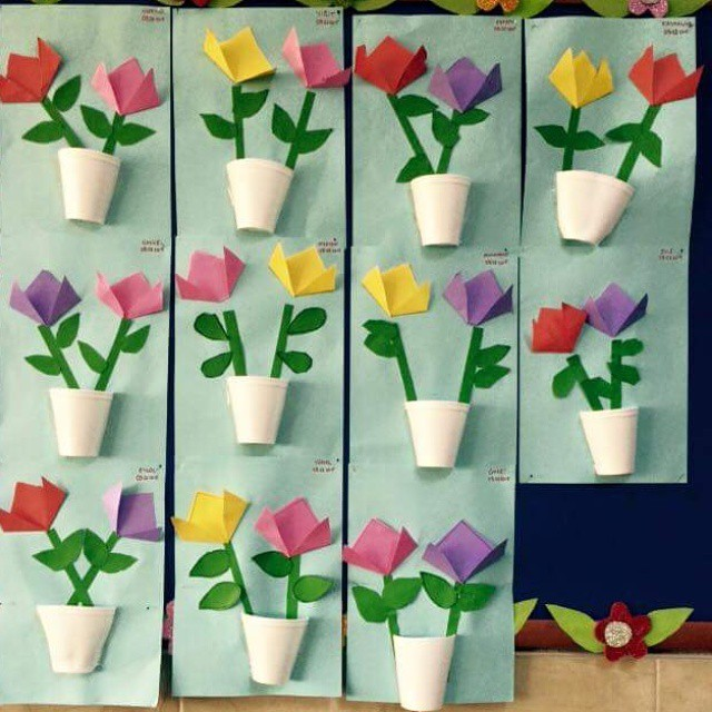 Paper Cup Flower Crafts And Worksheets For Preschool Toddler And Kindergarten