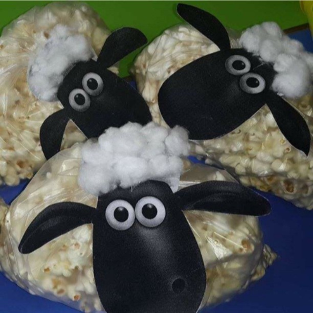 popcorn sheep craft