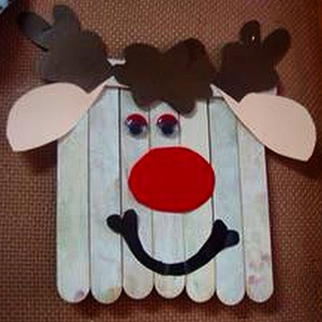 popsicle reindeer craft