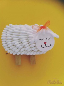 Qtip Sheep Craft X on musical instruments craft idea for kids