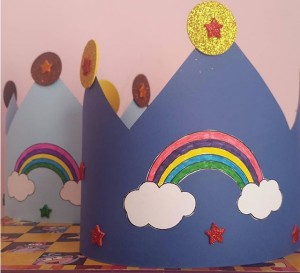 rainbow hat craft