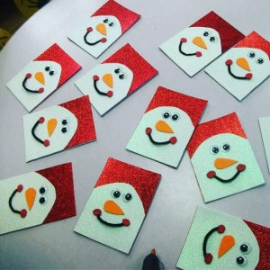 snowman christmas card craft