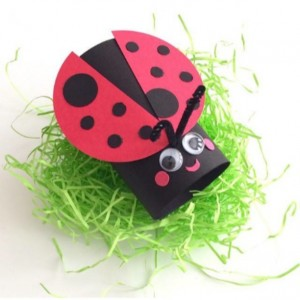 toilet paper roll ladybug craft