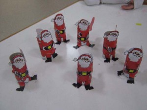toilet paper roll santa claus craft