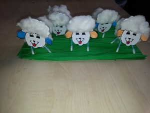 toilet paper roll sheep craft