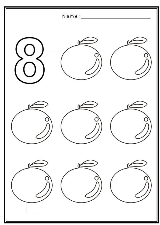 Number worksheet – Free Printable Toddler Worksheets