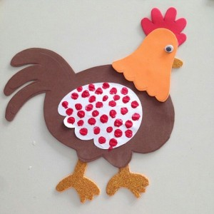 chicken craft idea for kids (5)