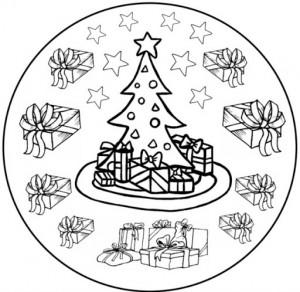 christmas mandala coloring page (3)