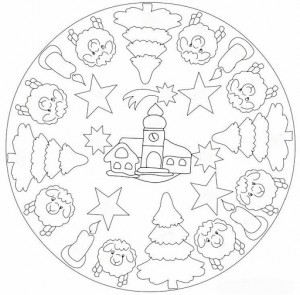 Christmas Mandala Coloring Page For Kids Crafts And Worksheets For
