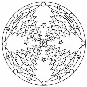 christmas tree mandala coloring page (2)