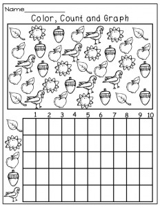 fall graph worksheet