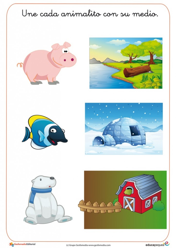 Animals And Their Habitats Worksheets Kindergarten farm animals – Animals and Their Habitats Worksheets Kindergarten