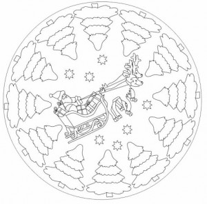 free christmas mandala coloring page (2)