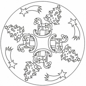 free christmas tree mandala coloring page (1)