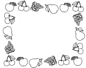 fruit frame coloring page