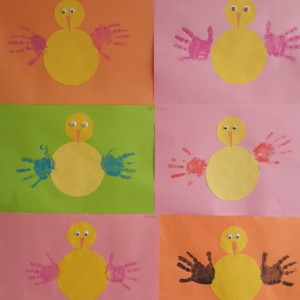 handprint chick craft