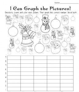 holiday graph worksheet for kids