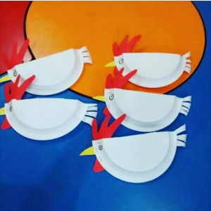 paper plate hen craft (2)