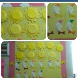 paper plate sun craft idea