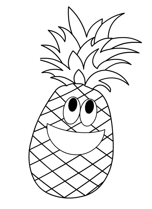 Pineapple Coloring Page Crafts And Worksheets For