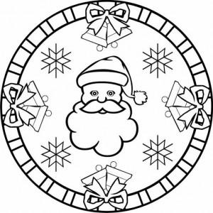 santa claus mandala coloring page (2)